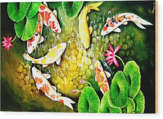 Only After The Last Fish Has Been Caugh  Wood Print by Yuki Othsuka