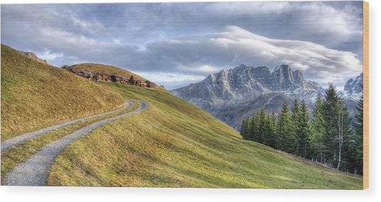 Only In The Swiss Alps Wood Print