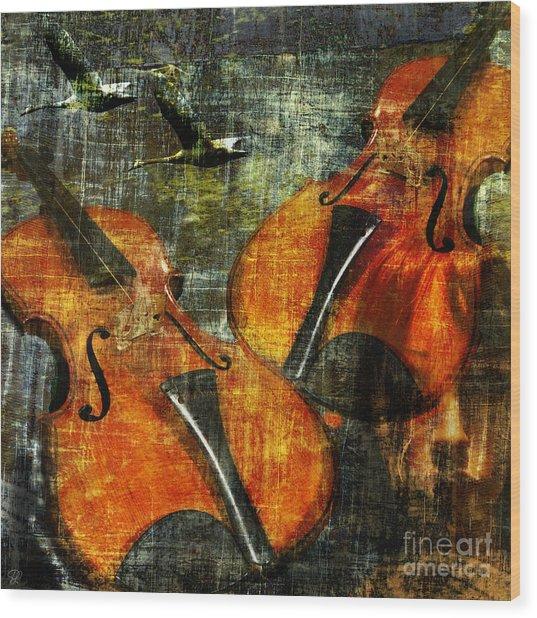 Only Music Heals A Broken Heart Wood Print