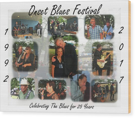 Onset Celebrates 25 Years Of Blues Wood Print