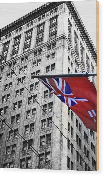 Ontario Flag Wood Print
