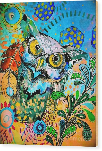 Oogke Owl Wood Print