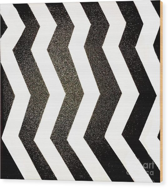 Wood Print featuring the mixed media Op Art by Janelle Dey