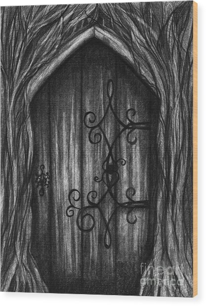 Open A New Door Wood Print