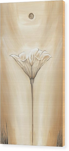 Open Flower Wood Print