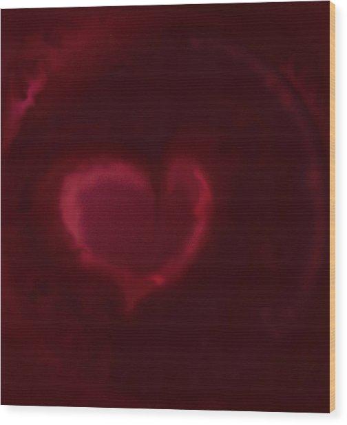 Open Heart Wood Print by Eileen Shahbazian