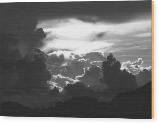Open Heaven Wood Print