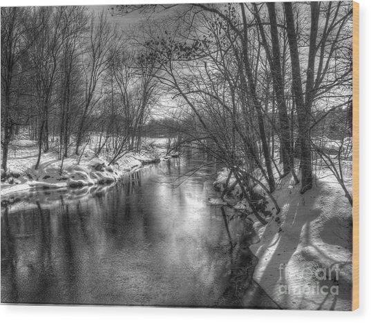 Open River Wood Print