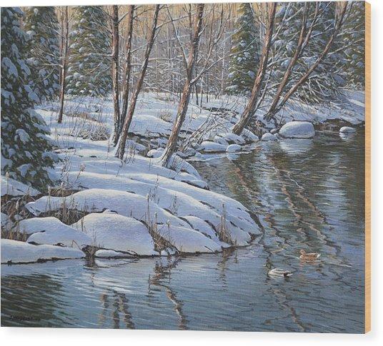 Open Water Wood Print