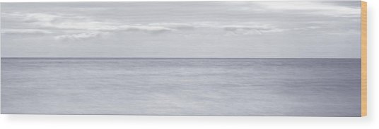 Open Water Panorama Wood Print