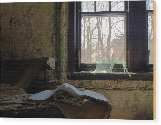 Opened Wood Print by Kevin Brett
