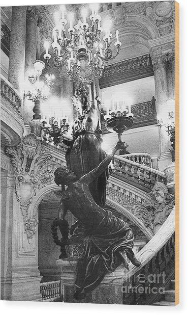 Opera Staircase Wood Print