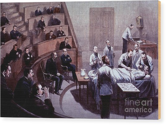 Operating Amphitheater, Administering Wood Print