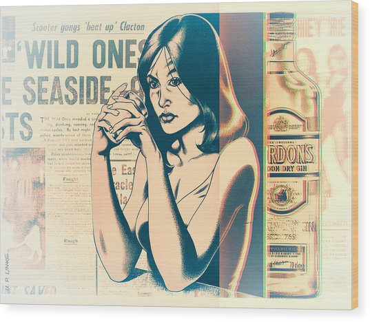 Ophelia 1976 Wood Print