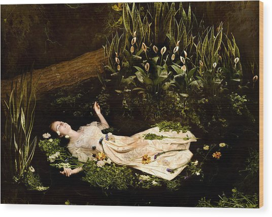 Ophelia Wood Print by Jacquie Thuemler