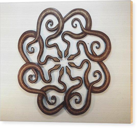 Ophidian Octet Wood Print