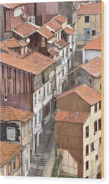 Oporto Houses Wood Print