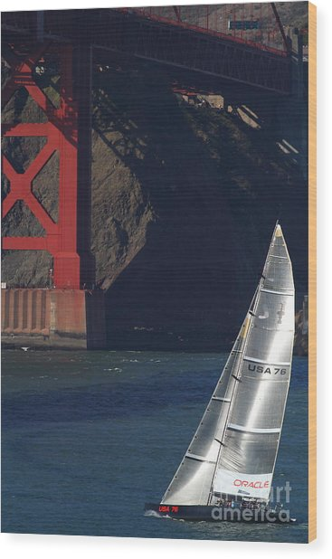 Oracle Racing Team Usa 76 International America's Cup Sailboat . 7d8071 Wood Print