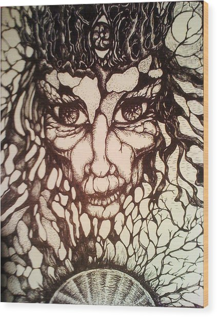 Oracle Wood Print by Rae Chichilnitsky