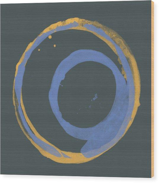 Orange And Blue 3 Wood Print