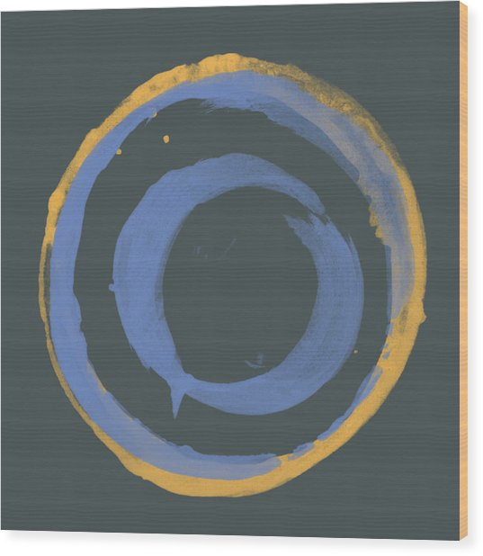 Orange And Blue1 Wood Print