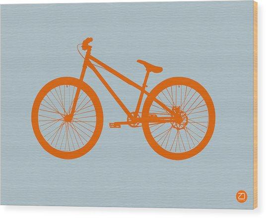 Orange Bicycle  Wood Print