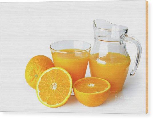 Orange Juice Wood Print