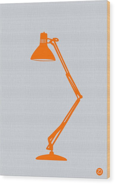 Orange Lamp Wood Print