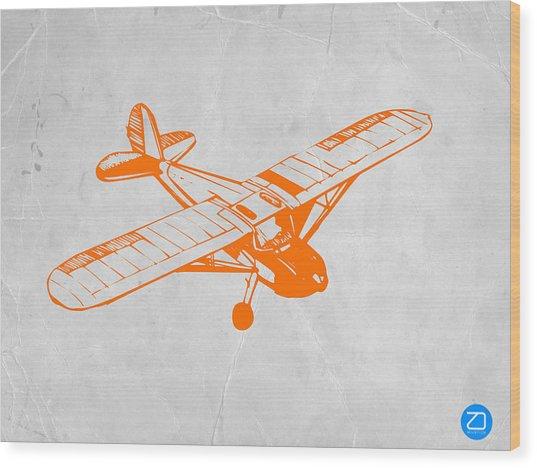 Orange Plane 2 Wood Print