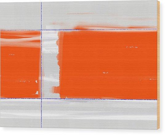 Orange Rectangle Wood Print