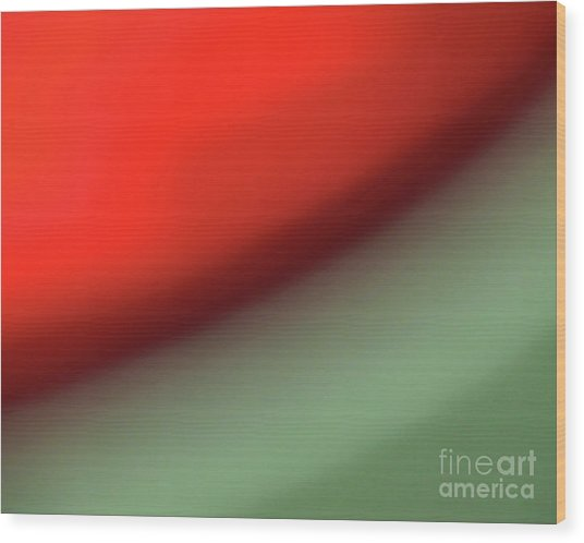 Orange Red Green Wood Print