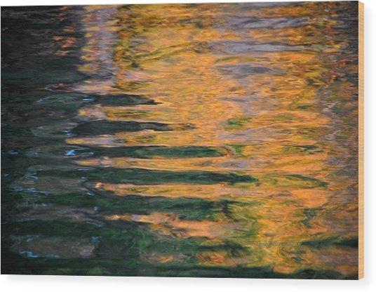 Orange Sherbert Wood Print