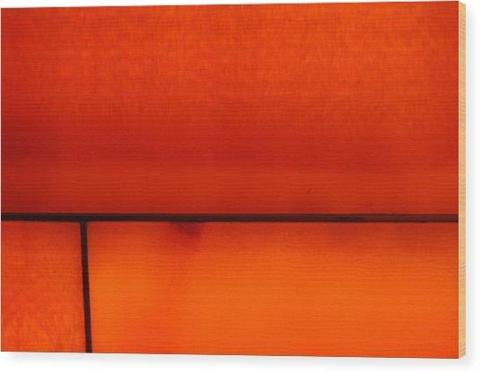 Orange Stone 4 Wood Print