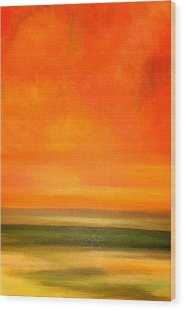 Orange Sunset Wood Print by Marcia Crispino
