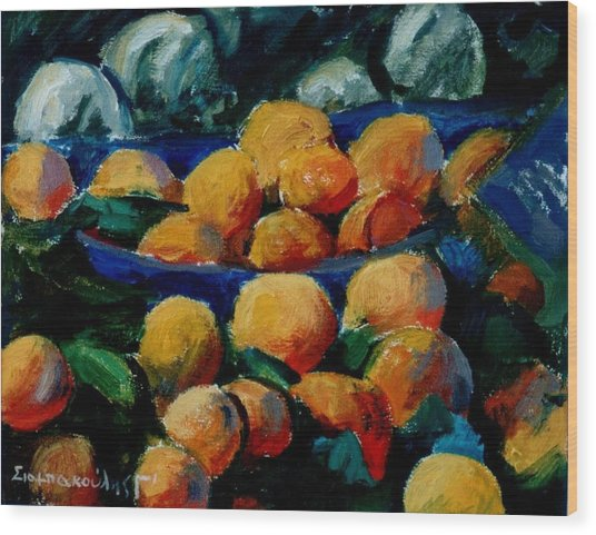 Oranges Wood Print by George Siaba