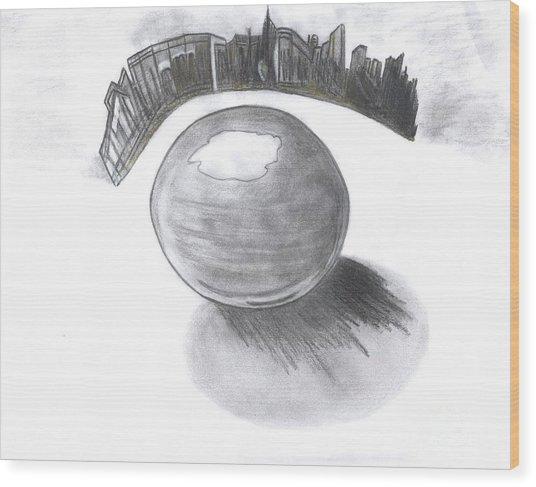 Orb Landing Wood Print