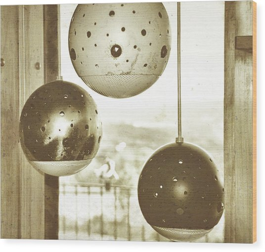 Orb Trio Wood Print by JAMART Photography