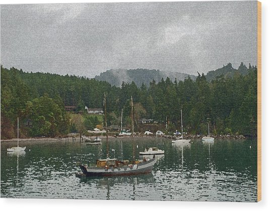 Orcas Island Digital Enhancement Wood Print