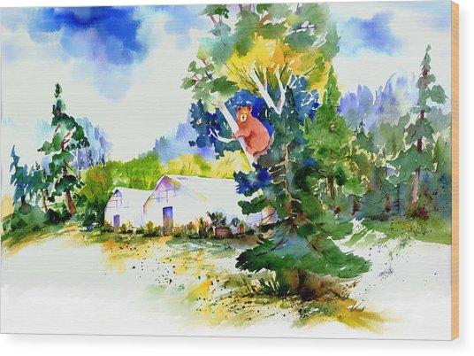 Orchard Springs Bear Wood Print