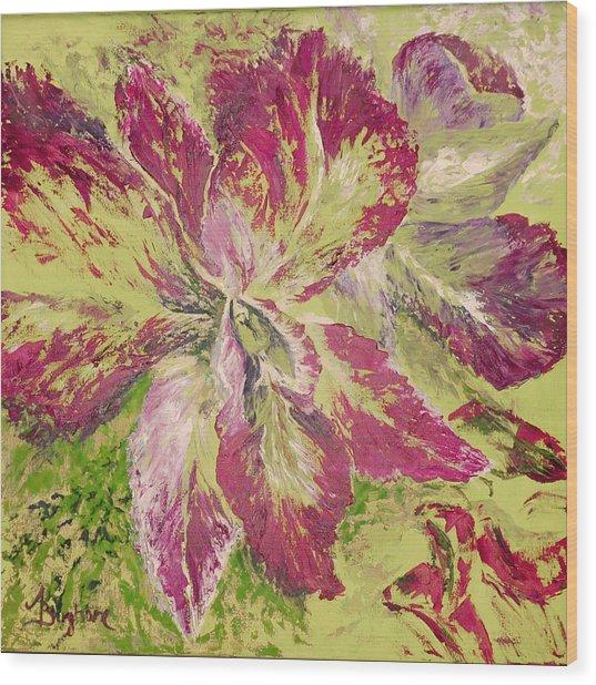 Orchid Wood Print by Aneta  Berghane