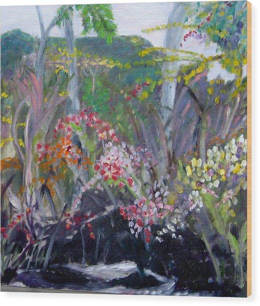 Orchid Jungle Wood Print
