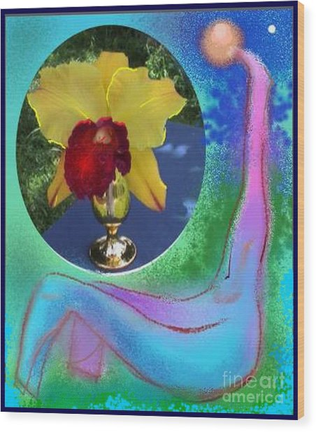 Orchid Keeper Wood Print
