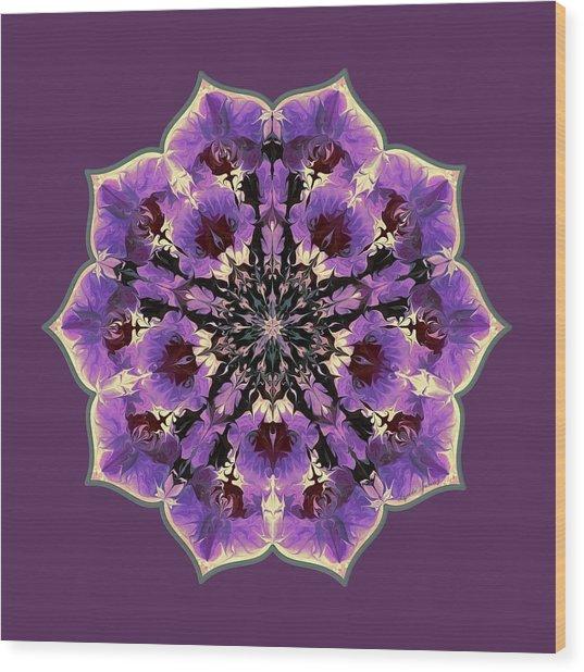 Orchid Lotus Wood Print