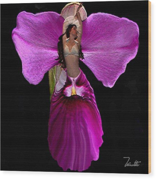 Orchid Wood Print by Andrea N Hernandez
