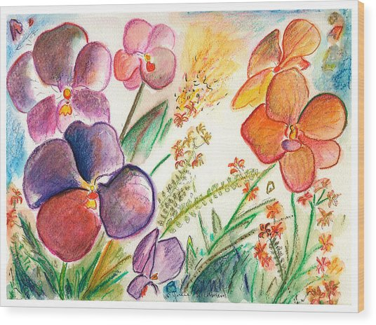 Orchid No. 12 Wood Print by Julie Richman