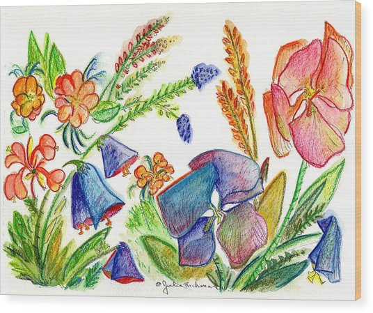 Orchid No. 13 Wood Print by Julie Richman