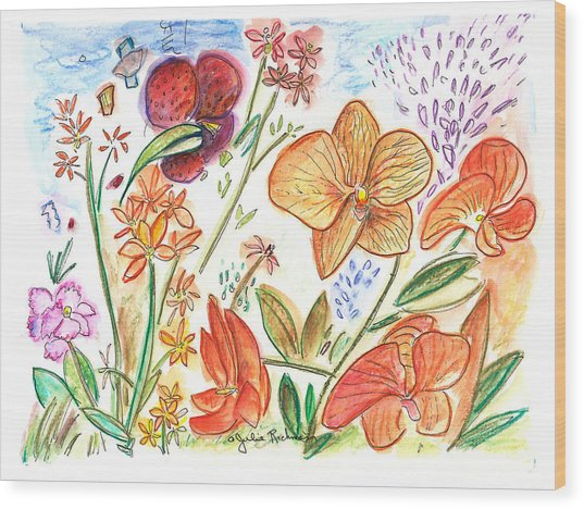 Orchid No. 9 Wood Print by Julie Richman