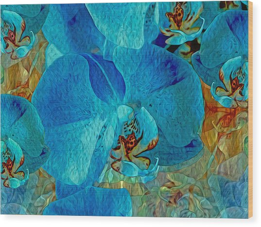 Orchid Reverie 10 Wood Print