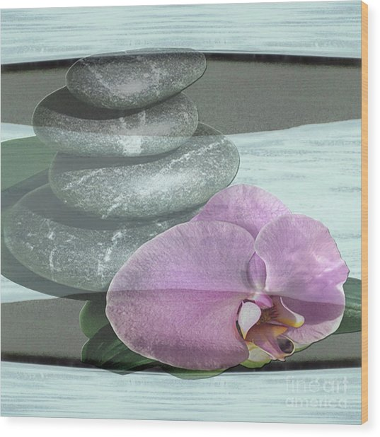 Orchid Tranquility Wood Print