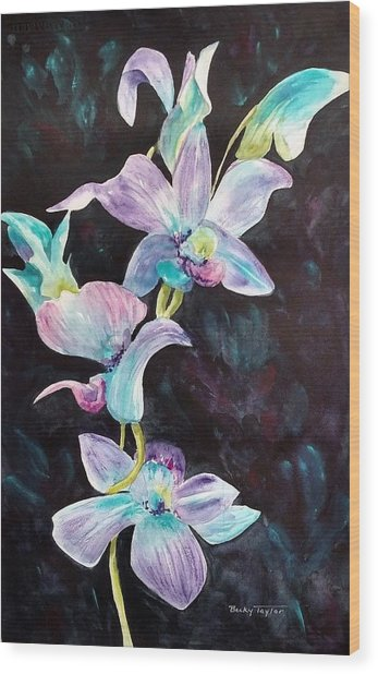 Orchids Alive Wood Print
